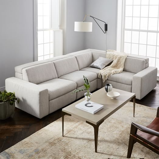 enzo reclining 4 seater sectional with storage ottoman christopher rh pinterest com