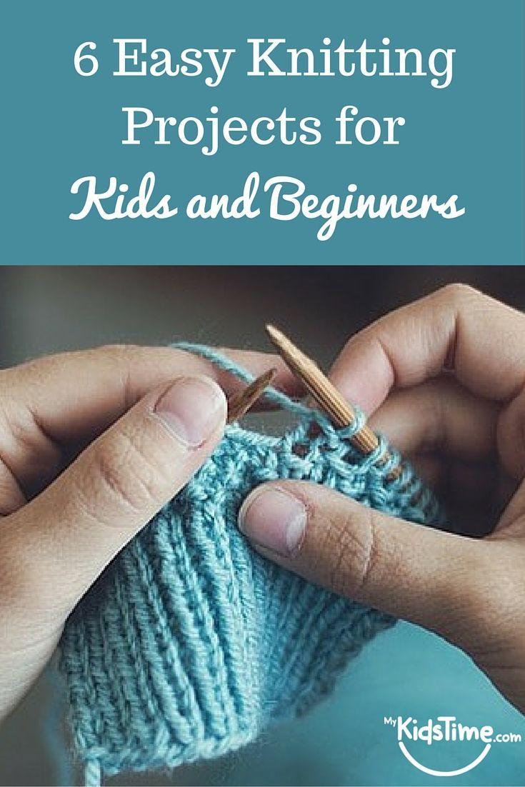 6 Easy Knitting Projects for kids and beginner knitters | Beginner ...