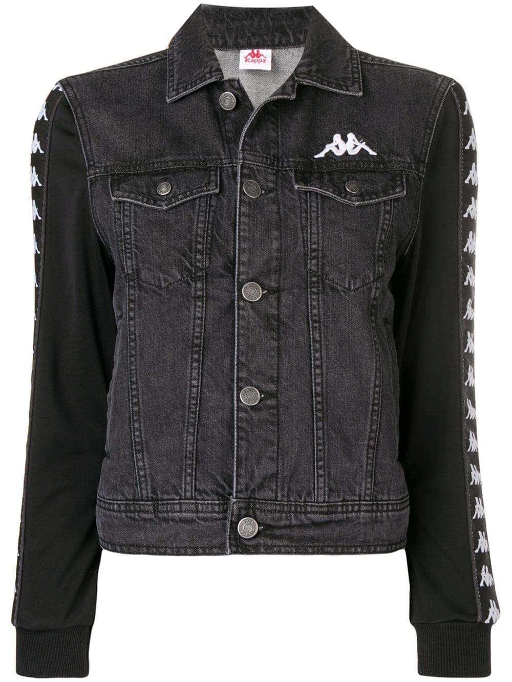 Kappa Logo Denim Jacket Farfetch Denim Jacket Jackets Denim [ 1333 x 1000 Pixel ]