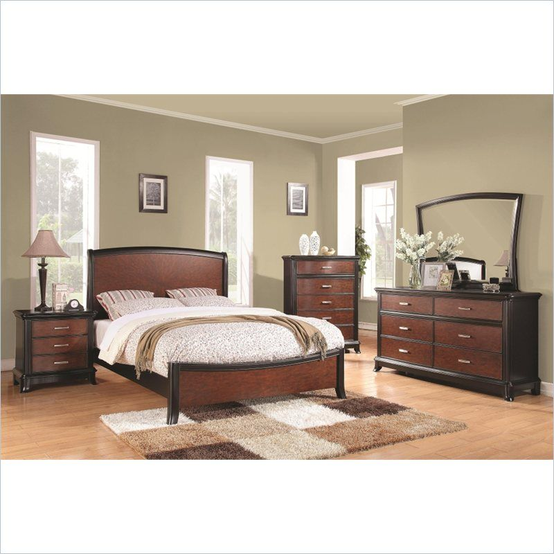 Coaster Josephina Queen Two Tone Panel Bed with