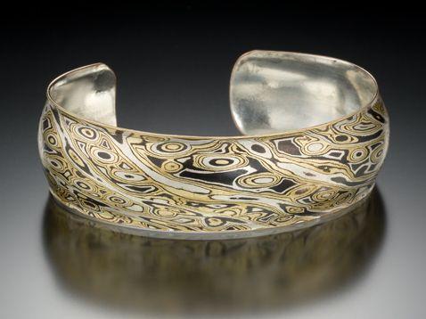 98e54db80 James Binnion Metal Arts. Mokume gane, Patina collection: copper, brass, sterling  silver.