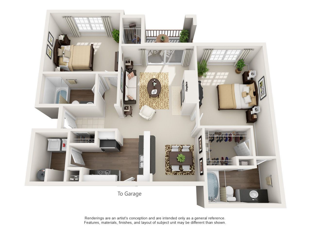 One, Two, and Three Bedroom Apartments in Euless TX