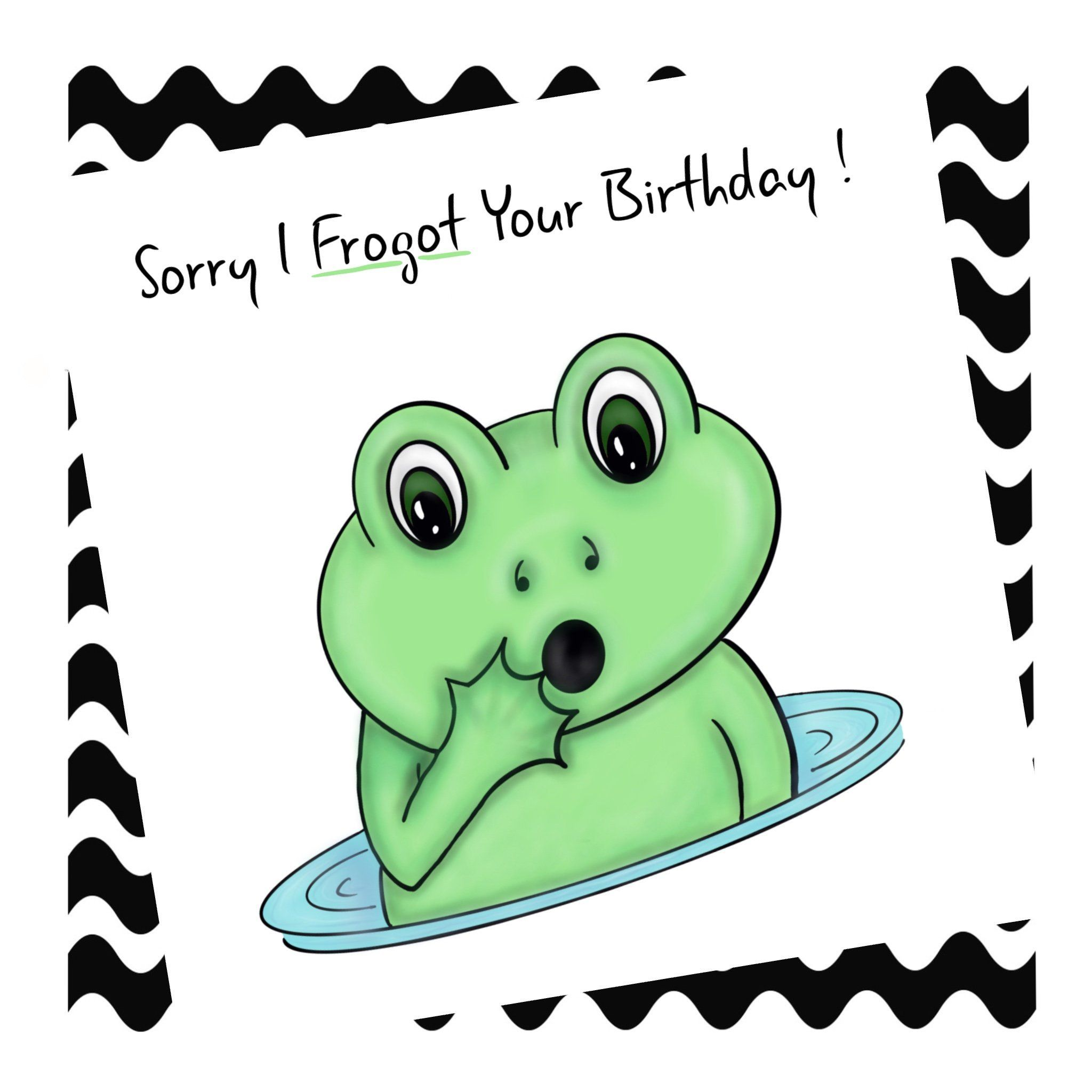 Sorry I Forgot Your Birthday By Cosmicpanda93 On Etsy Greeting Card Collection Cute Birthday Ideas It S Your Birthday