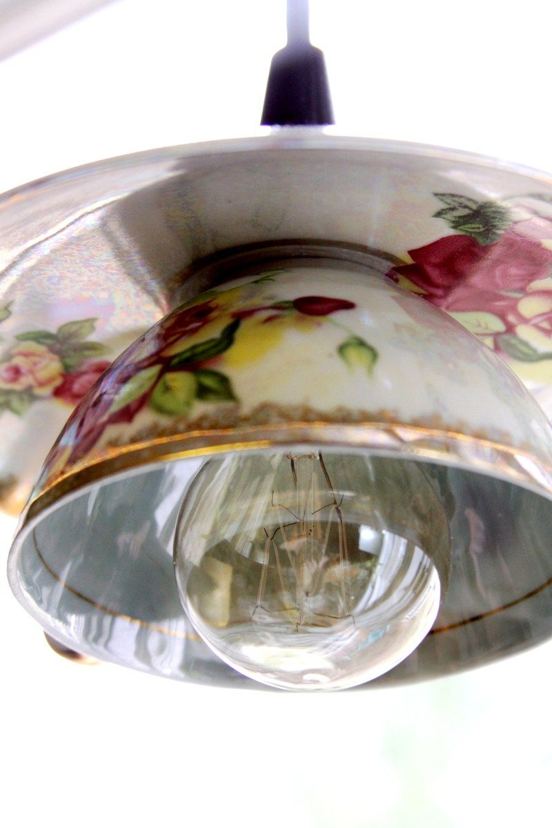 fun funky lighting. DIY Teacup Pendant Light Shades - These Pretty Vintage Are So Fun And Easy To Make! Funky Lighting
