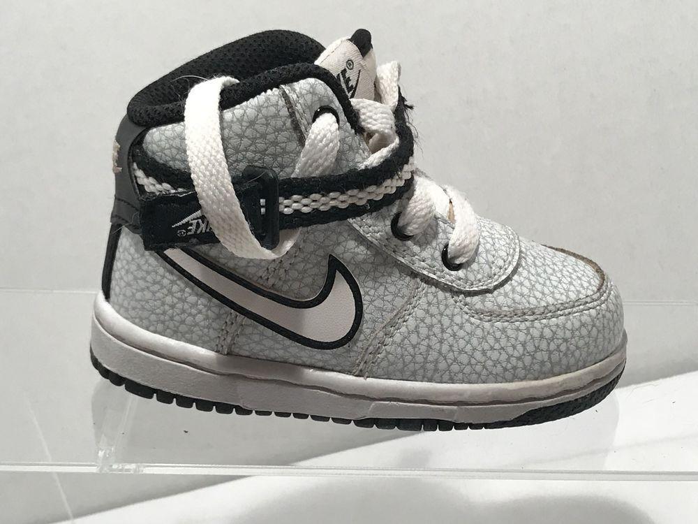 f303478e7e Nike Swoosh Toddler Boy High Top Sneakers Size 5 C White Gray Navy ...