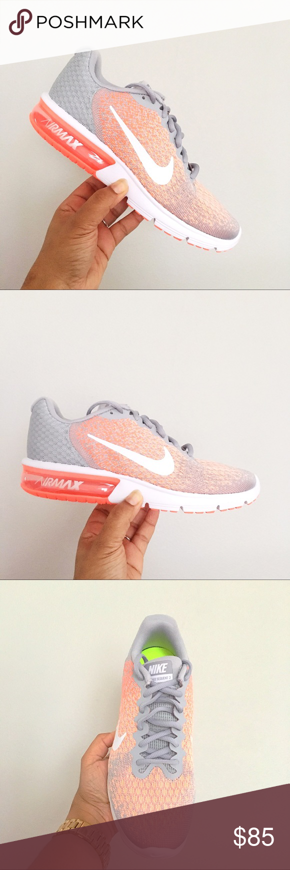 85e45ce28 NEW Women s Nike Air Max Sequent 2 SIZE 9 Brand New in Box no lid Nike Air  Max Sequent 2 Nike 852465 005 - Color  Wolf Grey   White Bright Mango ...