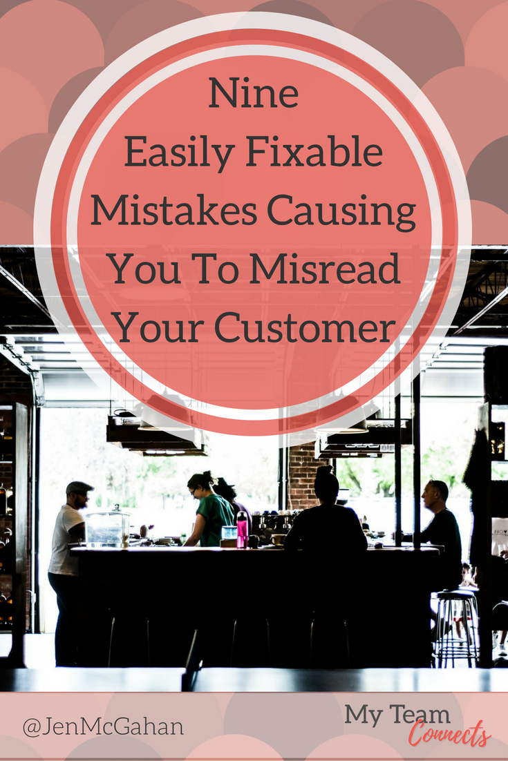 In spite of your best intentions, your human tendency to want to connect with others could actually be clouding your view of your ideal customer. Here are nine to watch. Nine Easily Fixable Mistakes Causing You To Misread Your Customer…