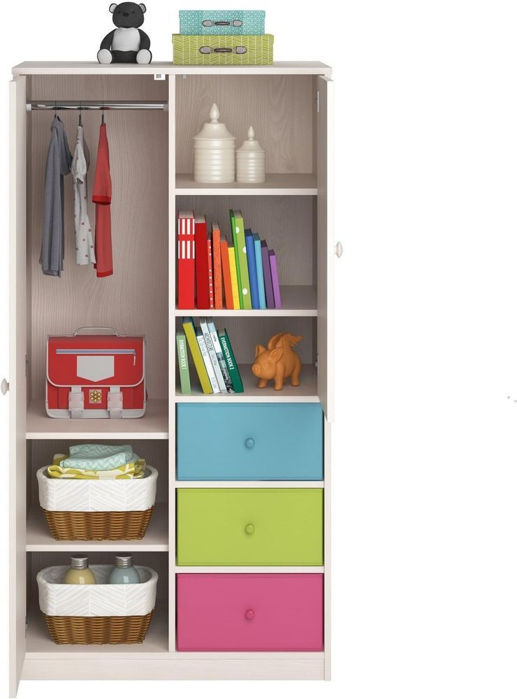 kids clothing storage wardrobe closet for clothes with shelves rh pinterest com