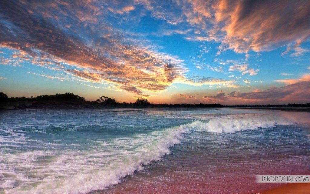 Beautiful Beach Sunset Winter Wallpapers Scene Wallpaper Nature
