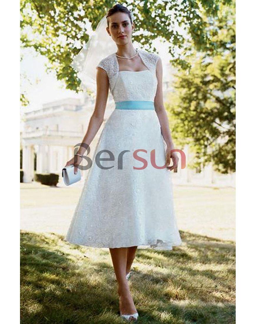 Plus Size Tea length Lace Applique Style Graceful Chubby Wedding ...