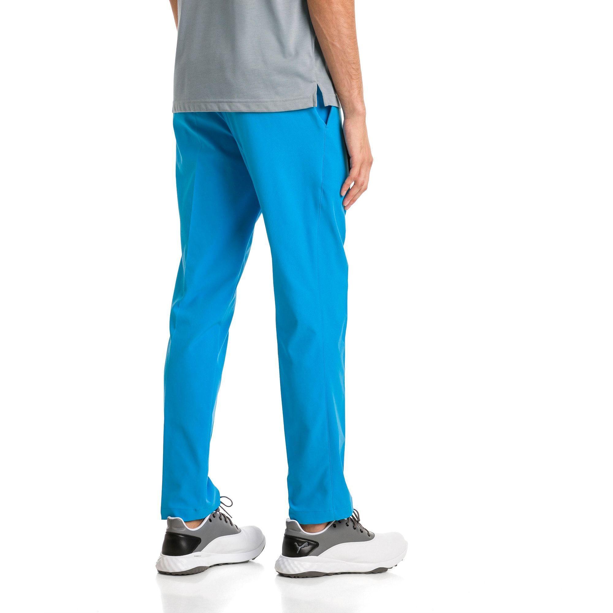 Men s Tailored Jackpot Woven Golf Pants Azure Blue PUMA