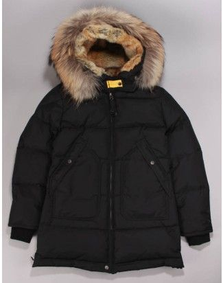Long Bear Coat Black Parajumper -