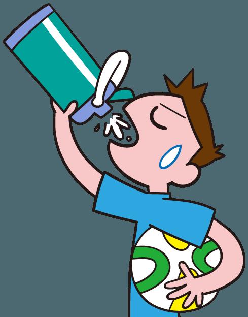 水筒で水分補給する サッカー選手 イラスト素材 Gogons Magazine