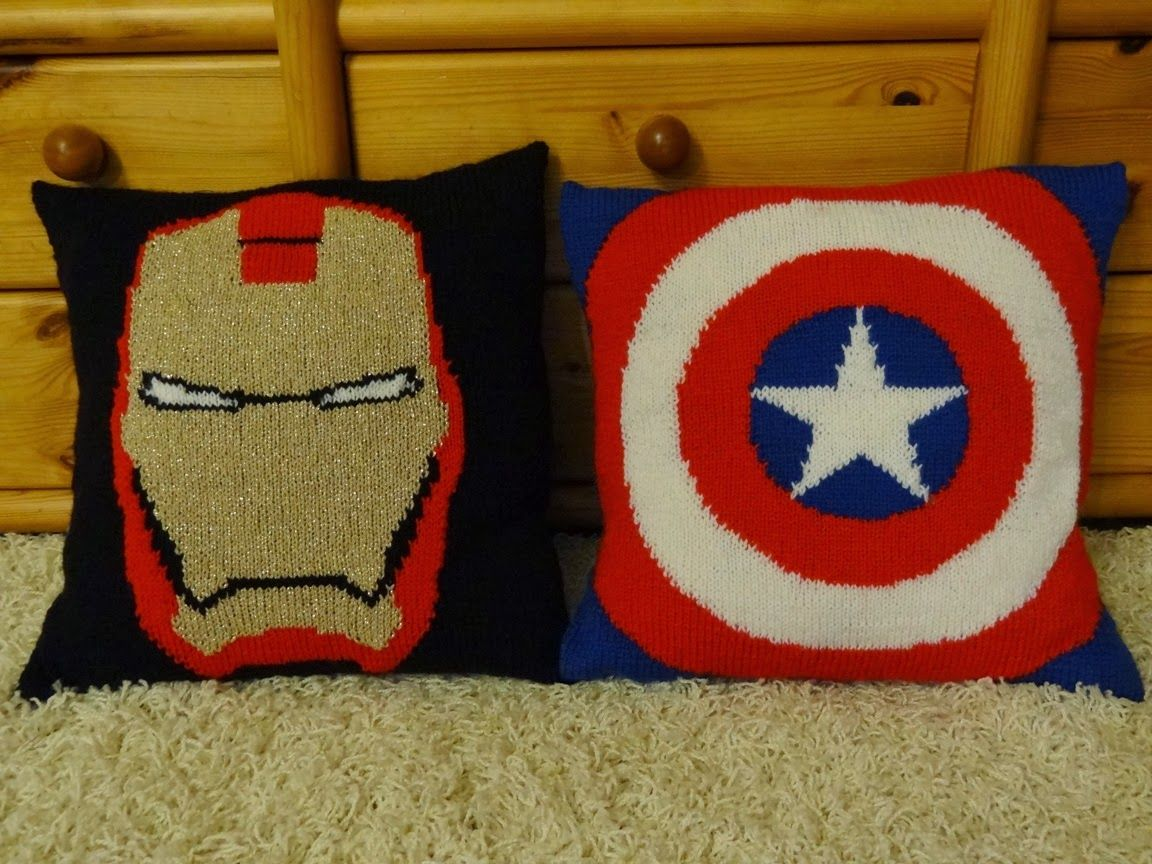 fymarvelcrafts: Captain America and Iron Man pillows by ...