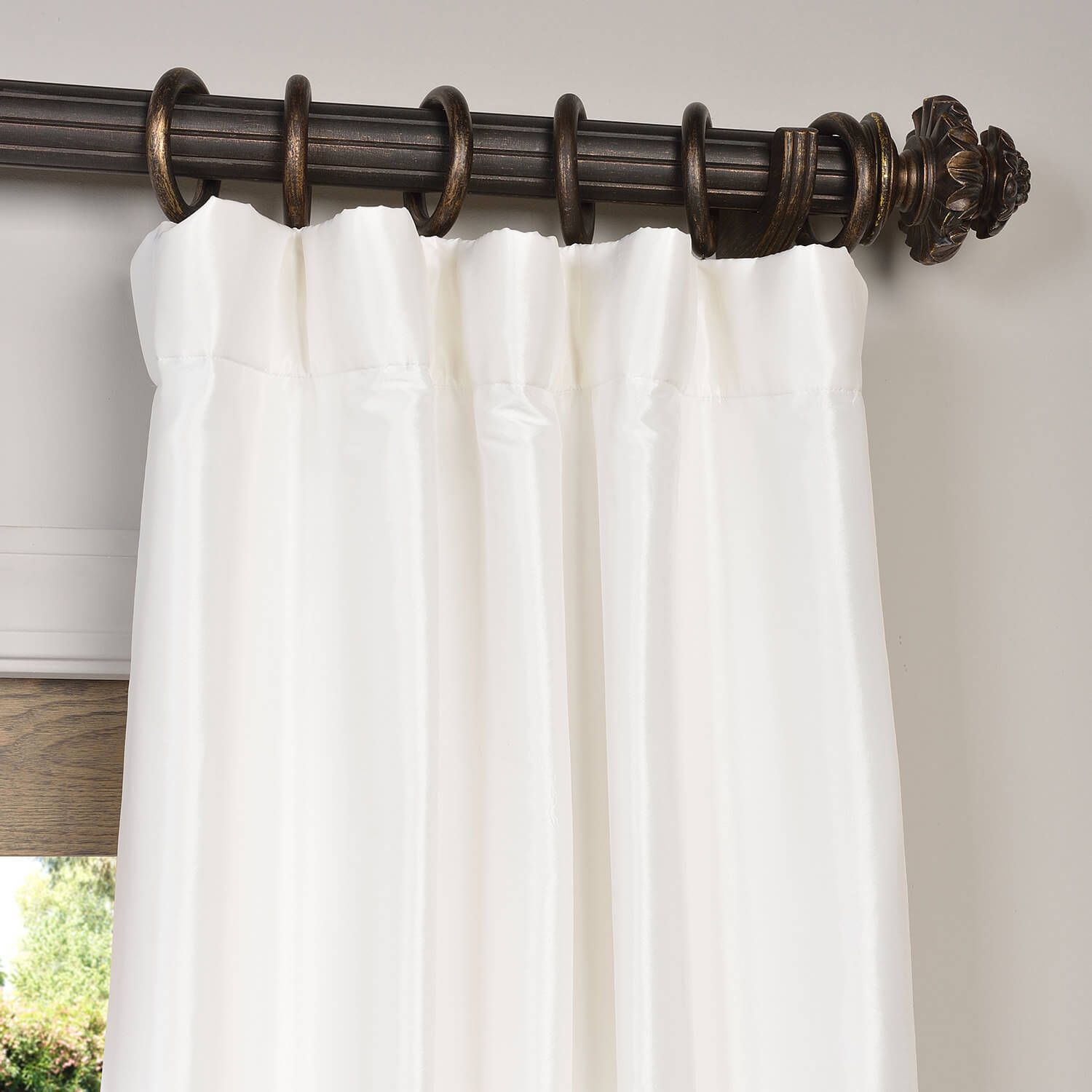 New window coverings 2018  buy eggshell faux silk taffeta curtains drapes  window coverings