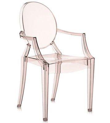 Kartell Louis Ghost Armchair Set Of 2 Upholstery Transparent Sunset Orange En 2020 Fauteuil Louis Ghost Fauteuil Design Pas Cher Fauteuil