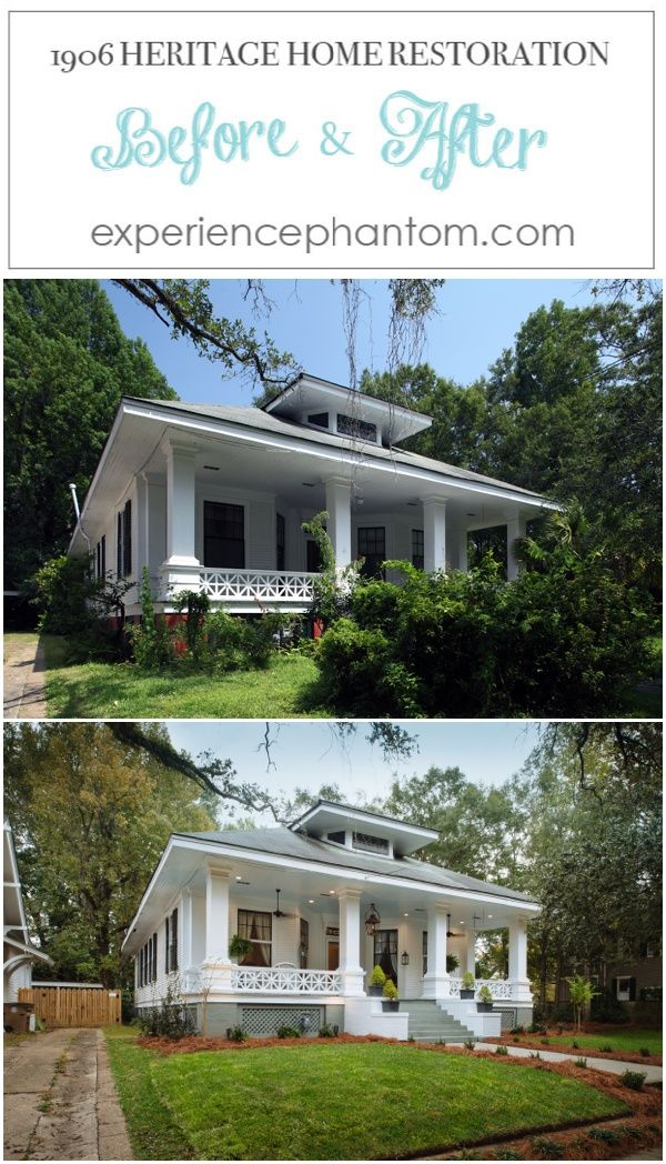 Porch RESTORING A 1906 HERITAGE HOME IN