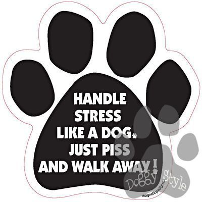 Handle Stress Like A Dog Piss And Walk Away Paw Magnet