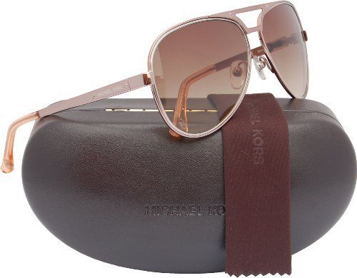 6cab458c8775b Michael Kors M2060S Peyton Aviator Sunglasses Rose Gold (780) MK 2060 780  Michael Kors.  119.50. Save 44%!