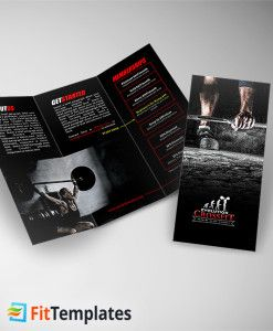 crossfit trifold brochure template from fittemplates com fitness