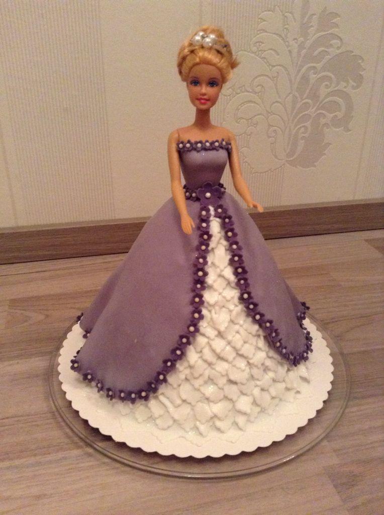 Barbietorte In Lila In 2019 Barbie Torte