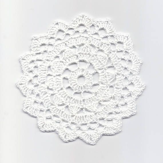 Mini Crochet Doily Lace Doilies Table decoration Crocheted Doily ...