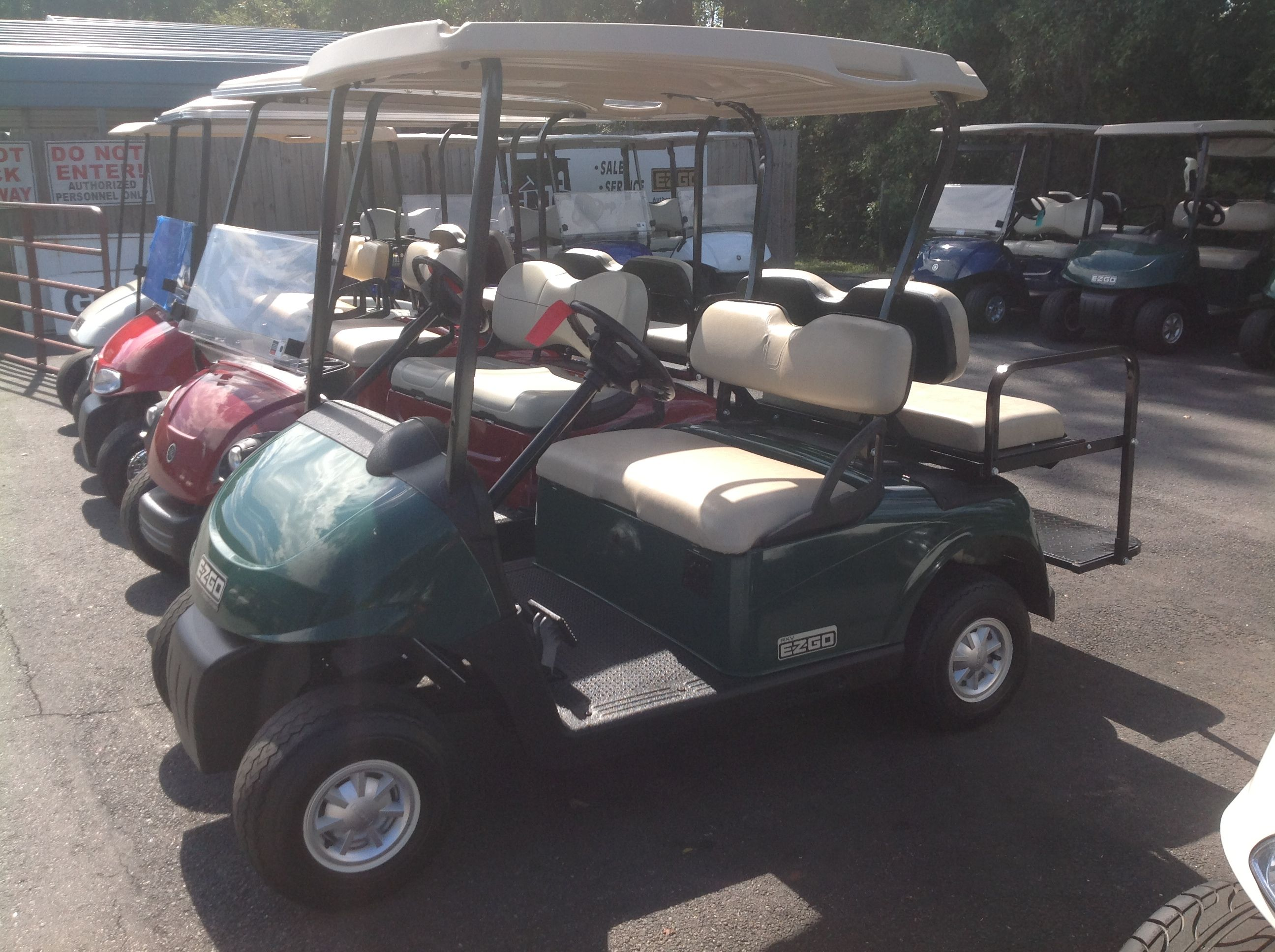 Green EZGO with stone beige seats RXV (With images) Golf