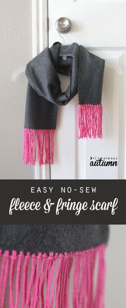easy no sew fleece & fringe scarf (great handmade gift idea ...