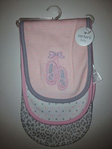 Carters Baby Girl Burp Cloths | eBay