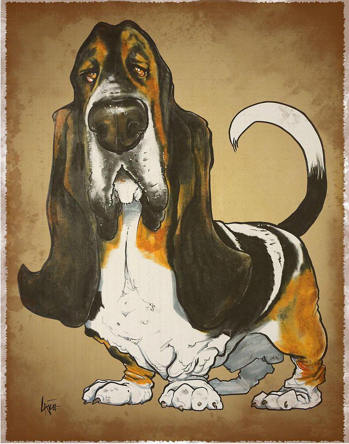 Basset Hound Caricature Drawing Basset Hound Caricature Fine Art