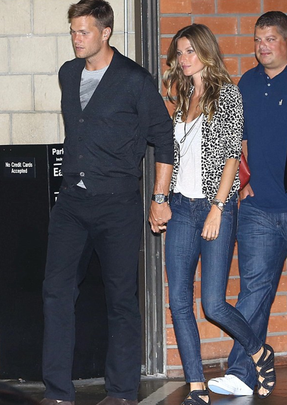 Gisele Bundchen and husband at the Airport.