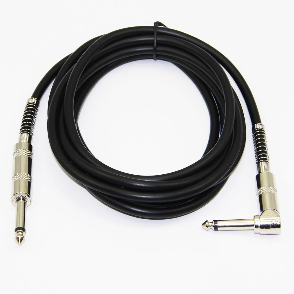 1 4 39 39 jack 90degree to audio mono cable male to male for electric guitar mixer. Black Bedroom Furniture Sets. Home Design Ideas