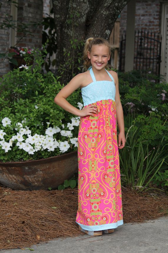 Maxi Dress for Girls sewing pattern - tween sewing pattern - maxi ...