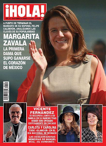 En Hola Margarita Zavala La Primera Dama Que Supo Ganarse El Corazon De Mexico Imprimir Sobres Edicion Digital Felipe Calderon
