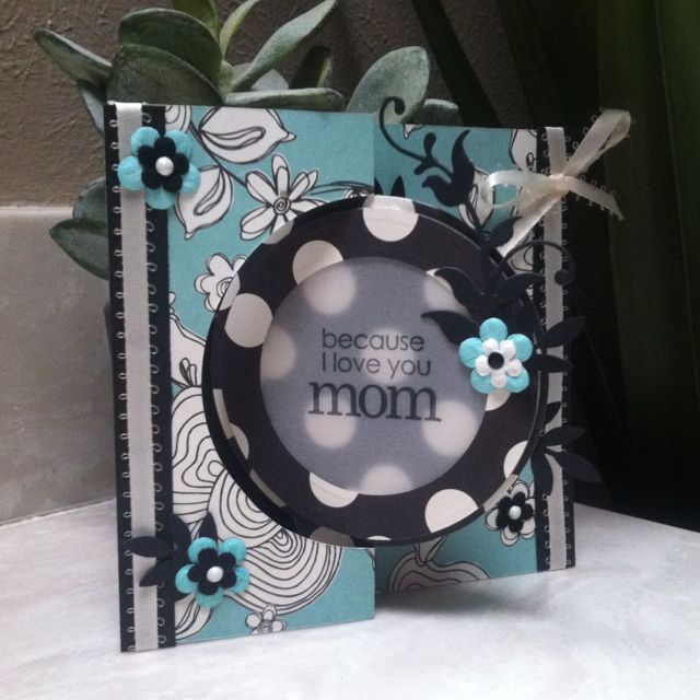 Mother's Day card using Sizzix flip it die.