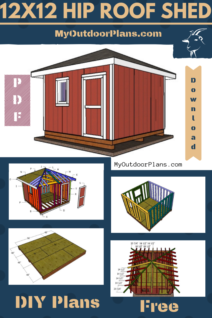 12 12 Shed With Hip Roof Plans Diy Shed Hip Roof Shed
