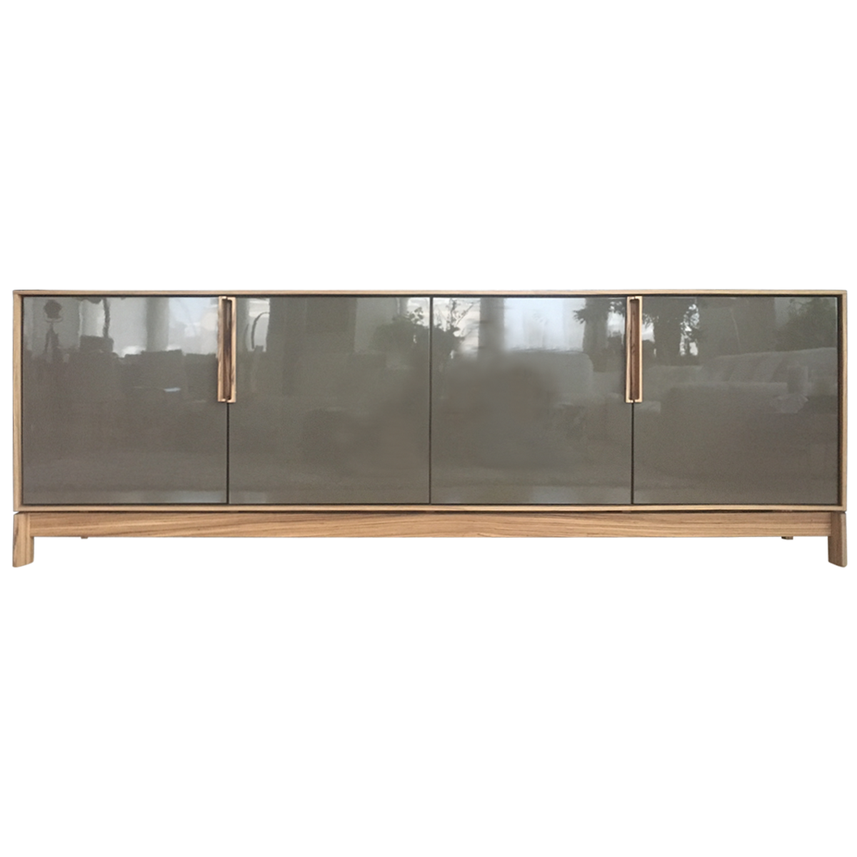 Lacquer And Zebrawood Swing Door Credenza | Zebra wood ...