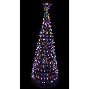 Home Accents Holiday 6 Ft Pre Lit Led Tree Sculpture With Star Multi Colored Lights 4407454g 02uh Led Tree Outdoor Christmas Decorations Yard Tree Sculpture