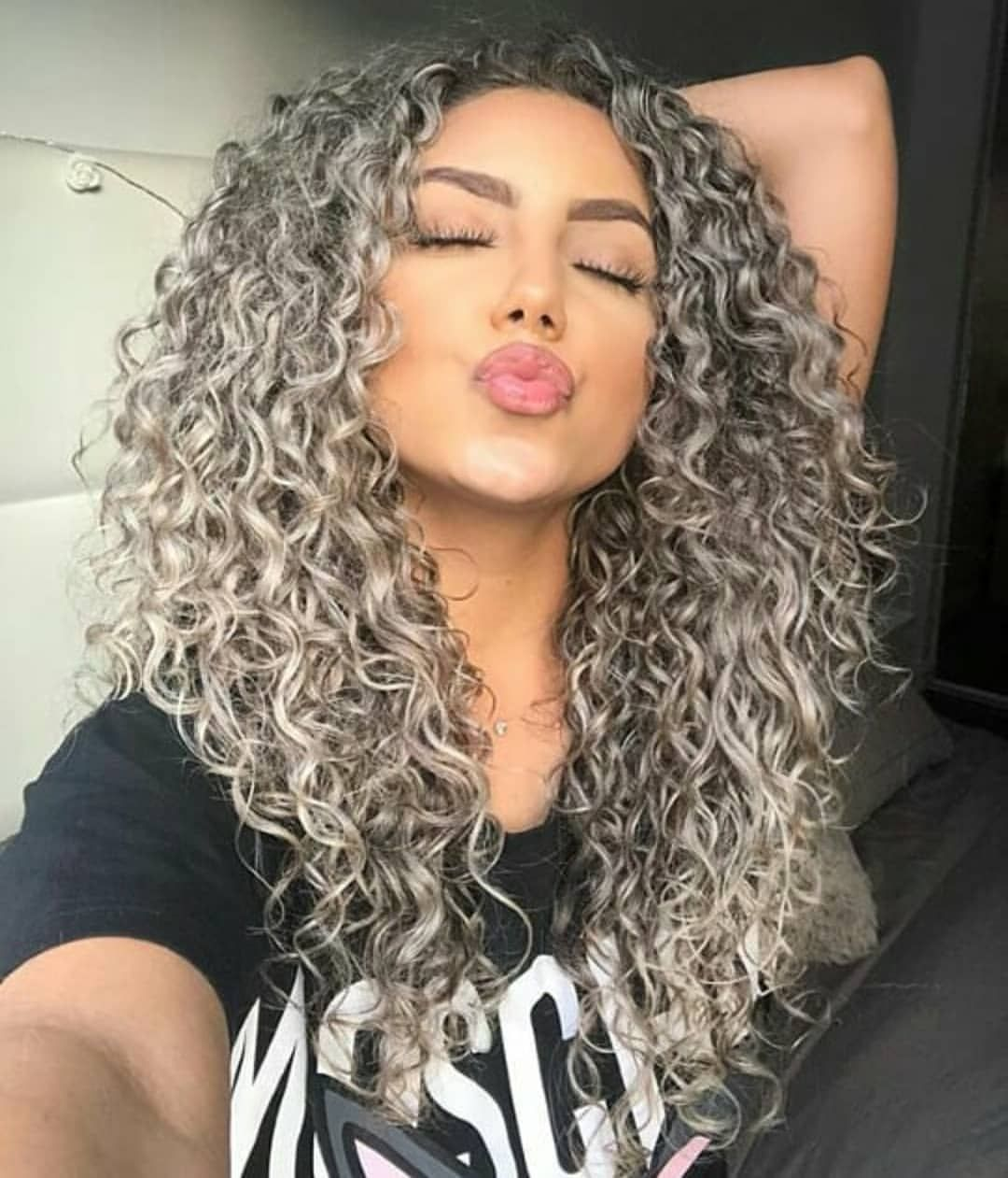 Curls On Point Follow Curlysqueendom For More In 2020 Curly Hair Styles Colored Curly Hair Curly Silver Hair