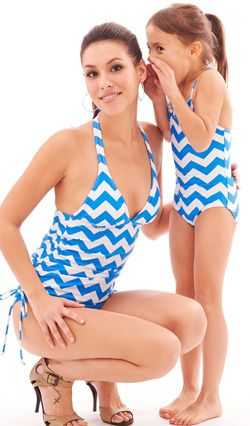 Little whispers, Mom and Daughter matching swimwear collection