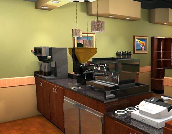 Coffee Shop Kitchen Design Small Modern Coffee Shop Interior Design Plan Business Ideas