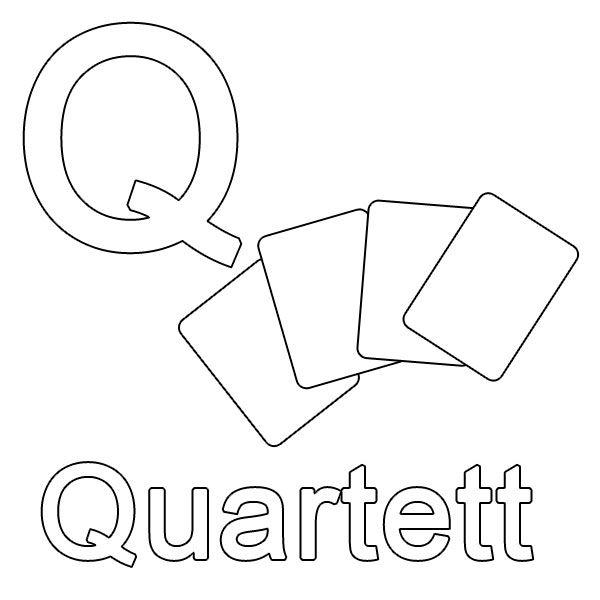 ausmalbild buchstaben lernen kostenlose malvorlage q wie quartett kostenlos ausdrucken. Black Bedroom Furniture Sets. Home Design Ideas