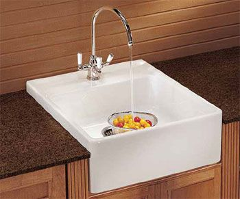 Franke Mhk710 24 Manor House 24 Inch Apron Front Single Bowl Fireclay Sink Mhk 710 24 Small Farmhouse Sink Small House Kitchen Ideas Apron Front Kitchen Sink