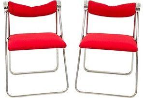 Vintage chrome folding chairs