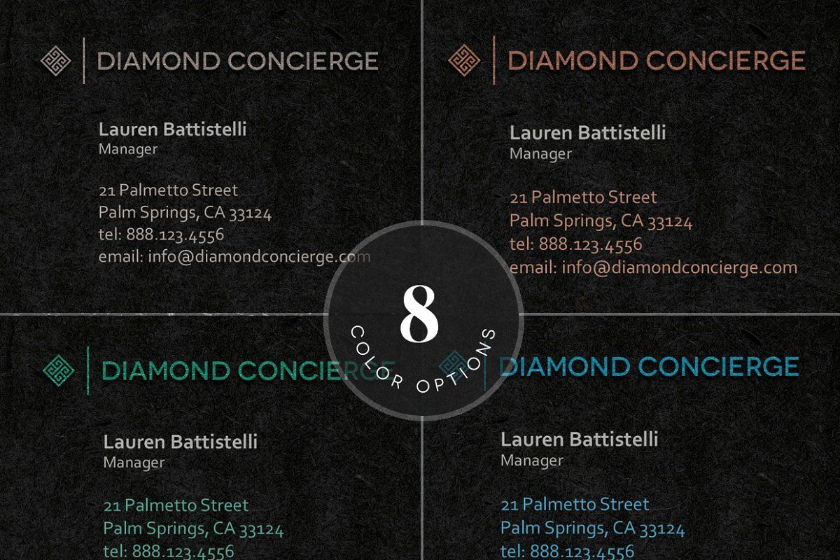 Concierge Business Card Template in 2020 Business card