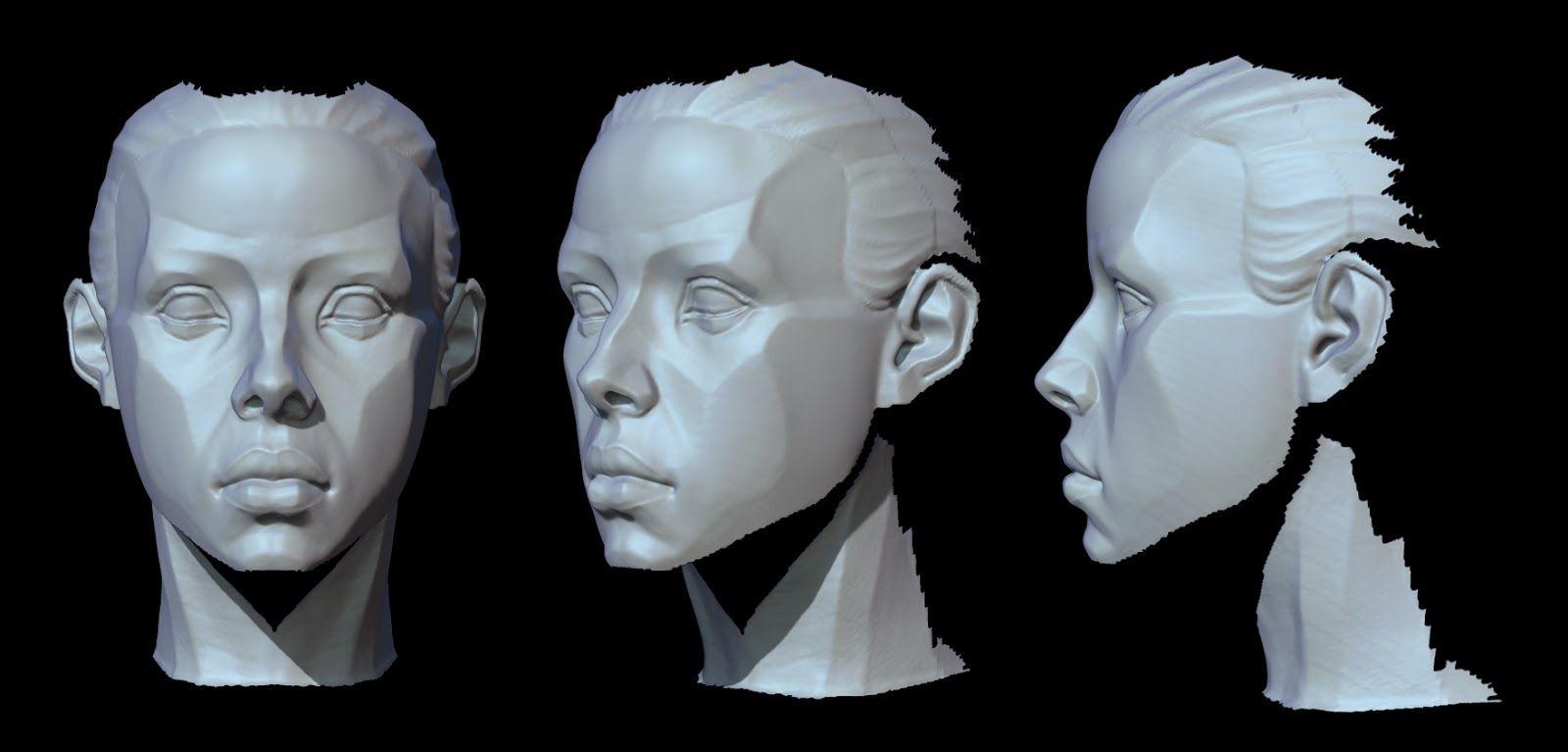 Female face critique please - Polycount Forum | Proportion ...