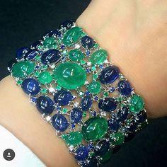Emerald and Sapphire bracelet