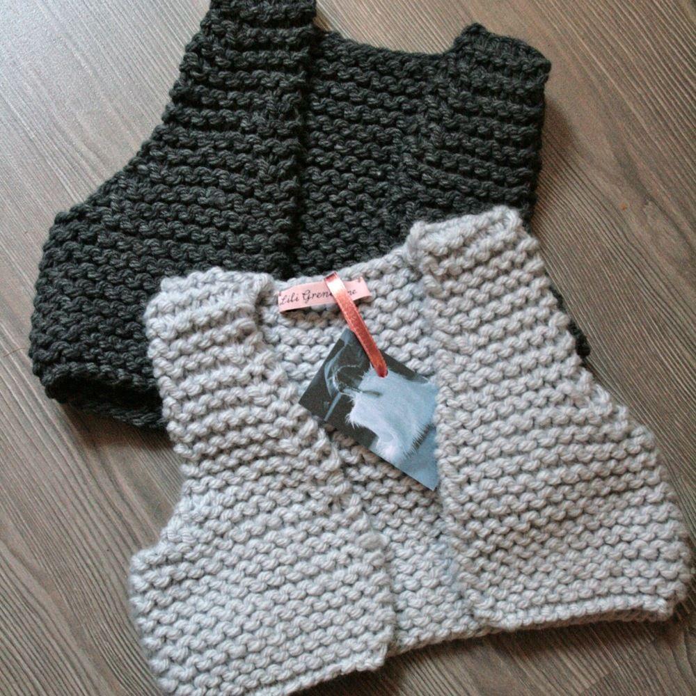 Chalecos, a calceta, en lana gruesa by Gilet berger | DIY Knitting ...