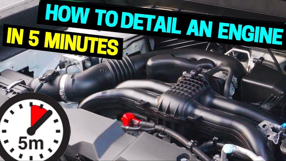 Clean detail your car engine in 5 minutes youtube