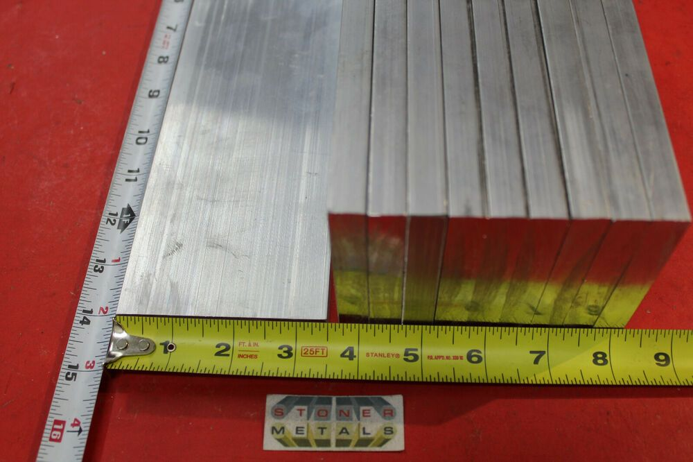 Details About 10 Pieces 1 2 X 3 1 2 Aluminum 6061 Flat Bar 14 13 Long T651solid Mill Stock Bar 10 Things Aluminum